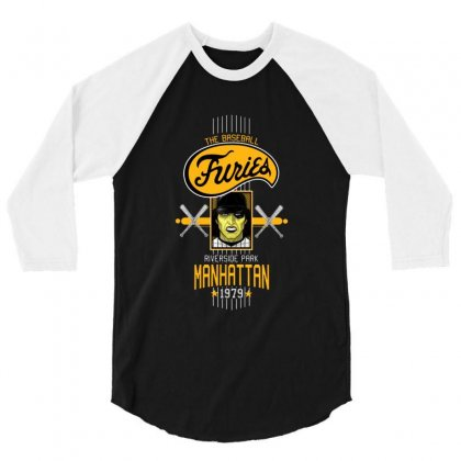 Baseball Furies 3/4 Sleeve Shirt Designed By Fejena