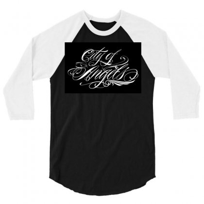 City Of Angels 3/4 Sleeve Shirt Designed By Tiococacola