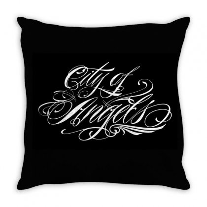 City Of Angels Throw Pillow Designed By Tiococacola