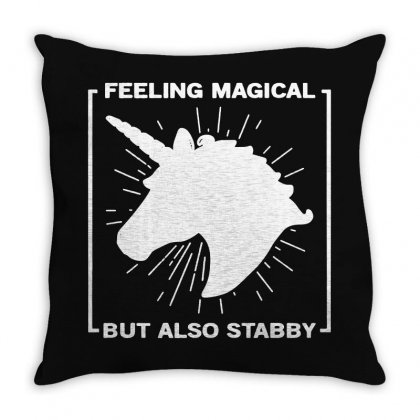 Feeling Magical Throw Pillow Designed By Frizidan