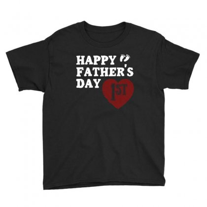 Happy 1st Fathers Day T Shirt Youth Tee Designed By Hung