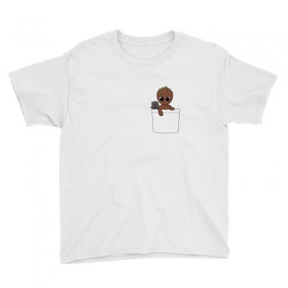 Baby Groot Youth Tee Designed By Fejena