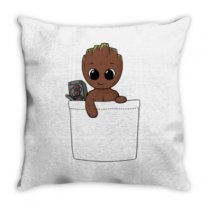 Baby Groot Throw Pillow Designed By Fejena