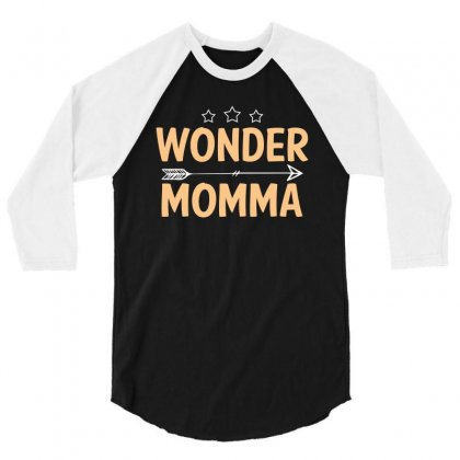 Wonder Momma T Shirt 3/4 Sleeve Shirt Designed By Hung