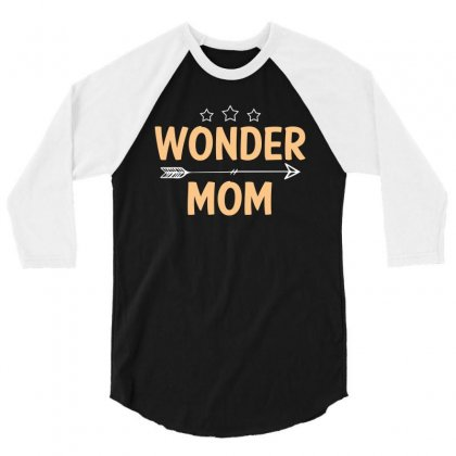 Wonder Mom T Shirt 3/4 Sleeve Shirt Designed By Hung