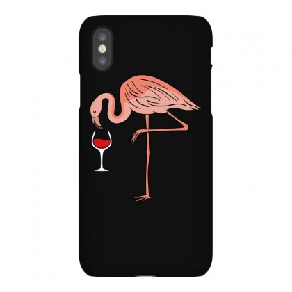Wine Lovers Pink Flamingo T Shirt Iphonex Case Designed By Hung
