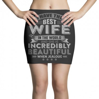 Warning I Have The Best Wife In The World Tshirt Mini Skirts Designed By Hung