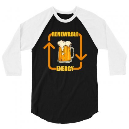 Renewable Energy T Shirt 3/4 Sleeve Shirt Designed By Hung