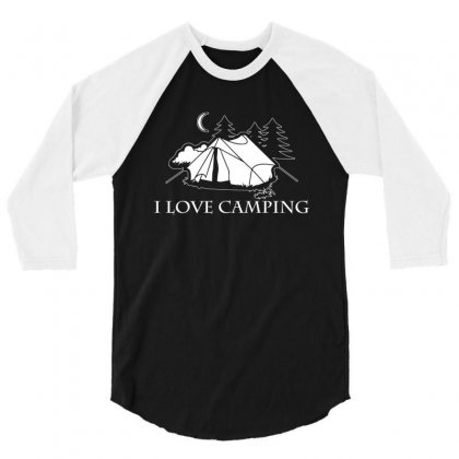 I Love Camping T Shirt 3/4 Sleeve Shirt Designed By Hung