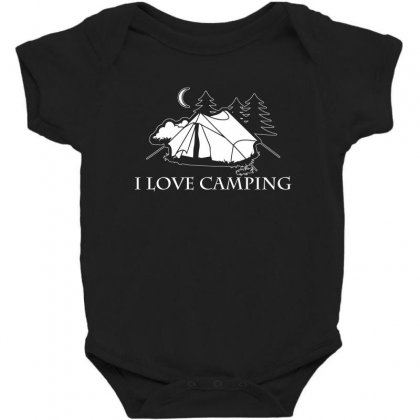 I Love Camping T Shirt Baby Bodysuit Designed By Hung