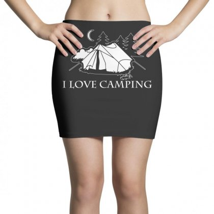 I Love Camping T Shirt Mini Skirts Designed By Hung