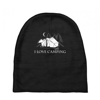 I Love Camping T Shirt Baby Beanies Designed By Hung