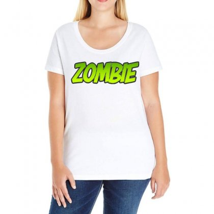 Zombie Ladies Curvy T-shirt Designed By Tiococacola