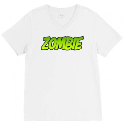 Zombie V-neck Tee Designed By Tiococacola