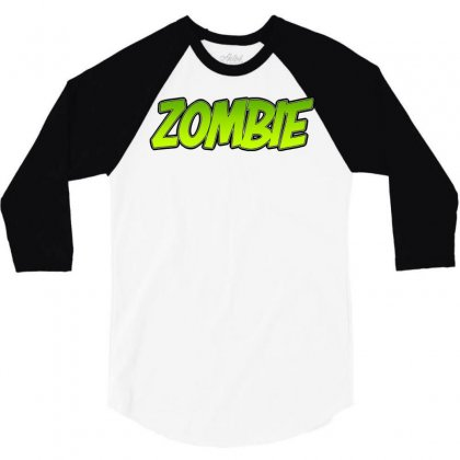 Zombie 3/4 Sleeve Shirt Designed By Tiococacola