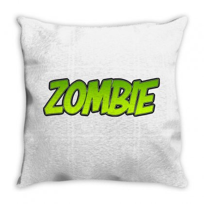 Zombie Throw Pillow Designed By Tiococacola
