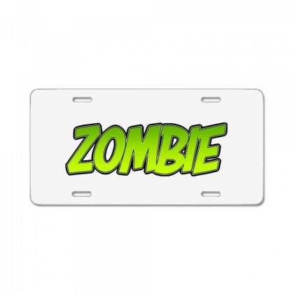 Zombie License Plate Designed By Tiococacola