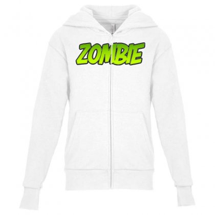 Zombie Youth Zipper Hoodie Designed By Tiococacola