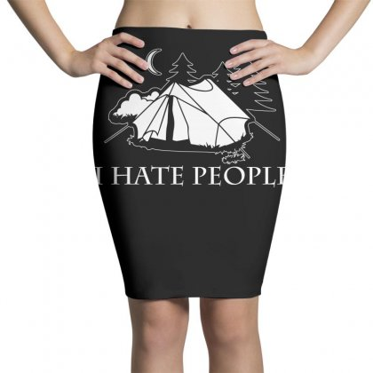 I Hate People T Shirt Pencil Skirts Designed By Hung