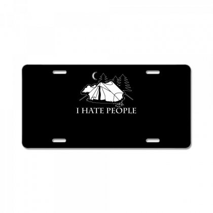 I Hate People T Shirt License Plate Designed By Hung