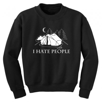 I Hate People T Shirt Youth Sweatshirt Designed By Hung