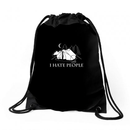 I Hate People T Shirt Drawstring Bags Designed By Hung