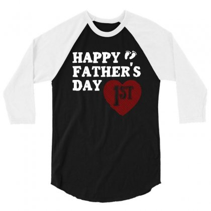 Happy 1st Fathers Day T Shirt 3/4 Sleeve Shirt Designed By Hung