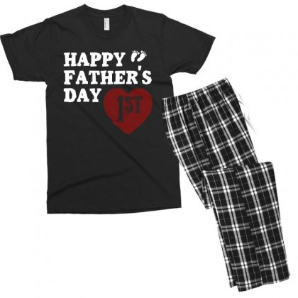 Happy 1st Fathers Day T Shirt Men's T-shirt Pajama Set Designed By Hung