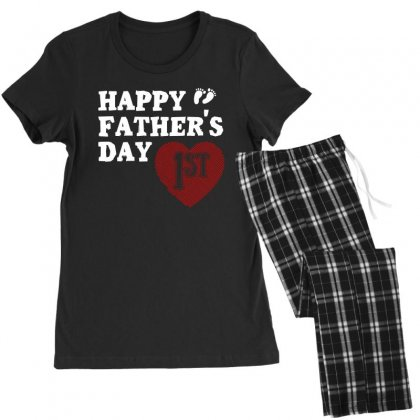 Happy 1st Fathers Day T Shirt Women's Pajamas Set Designed By Hung