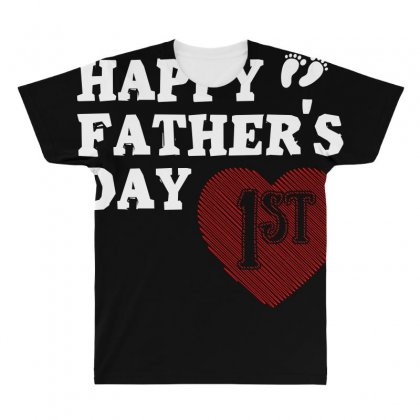 Happy 1st Fathers Day T Shirt All Over Men's T-shirt Designed By Hung