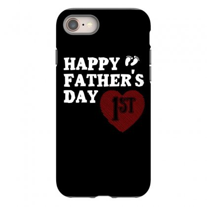 Happy 1st Fathers Day T Shirt Iphone 8 Case Designed By Hung
