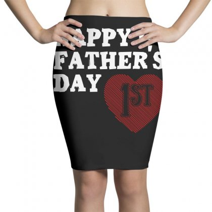 Happy 1st Fathers Day T Shirt Pencil Skirts Designed By Hung