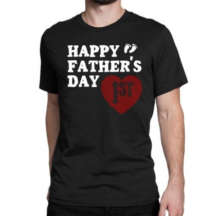 Happy 1st Fathers Day T Shirt Classic T-shirt Designed By Hung