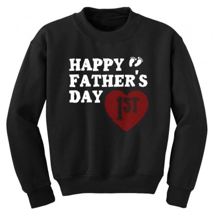 Happy 1st Fathers Day T Shirt Youth Sweatshirt Designed By Hung