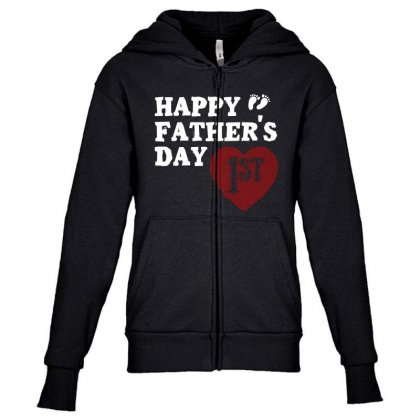 Happy 1st Fathers Day T Shirt Youth Zipper Hoodie Designed By Hung