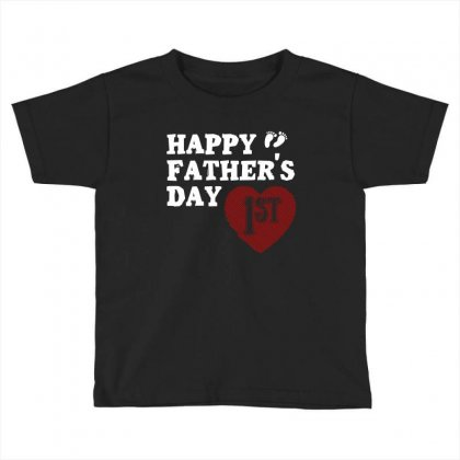 Happy 1st Fathers Day T Shirt Toddler T-shirt Designed By Hung