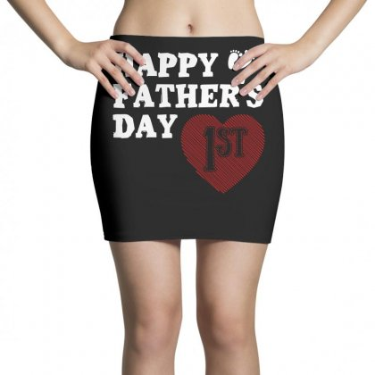 Happy 1st Fathers Day T Shirt Mini Skirts Designed By Hung