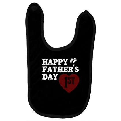 Happy 1st Fathers Day T Shirt Baby Bibs Designed By Hung