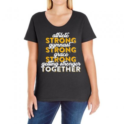 Getting Strong Together T Shirt Ladies Curvy T-shirt Designed By Hung