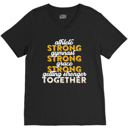 Getting Strong Together T Shirt V-neck Tee Designed By Hung