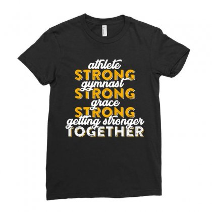 Getting Strong Together T Shirt Ladies Fitted T-shirt Designed By Hung