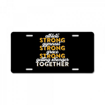 Getting Strong Together T Shirt License Plate Designed By Hung