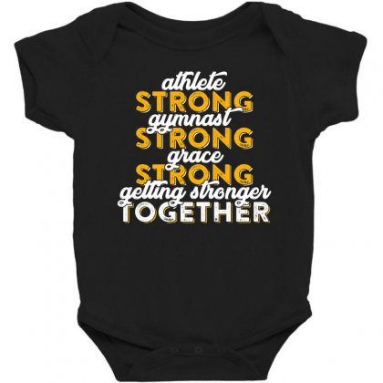 Getting Strong Together T Shirt Baby Bodysuit Designed By Hung