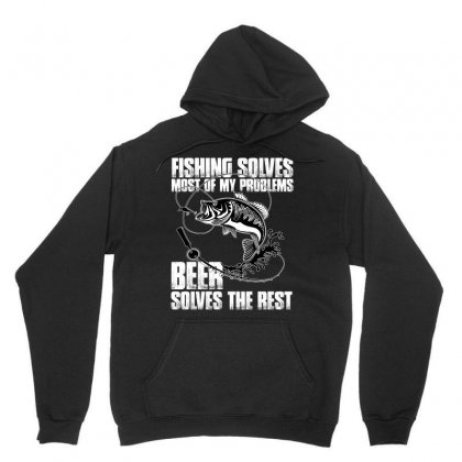 Fishing Solves Most My Problems T Shirt Unisex Hoodie Designed By Hung