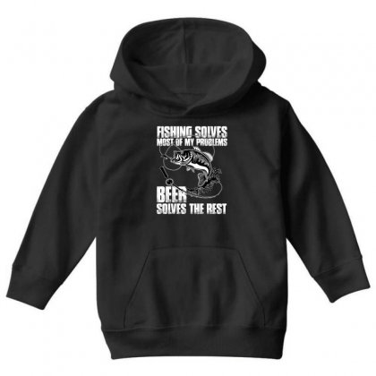 Fishing Solves Most My Problems T Shirt Youth Hoodie Designed By Hung