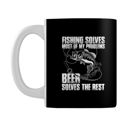 Fishing Solves Most My Problems T Shirt Mug Designed By Hung