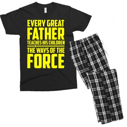 Every Great Father Teaches His Children T Shirt Men's T-shirt Pajama Set Designed By Hung