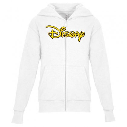 Disway Youth Zipper Hoodie Designed By Tiococacola