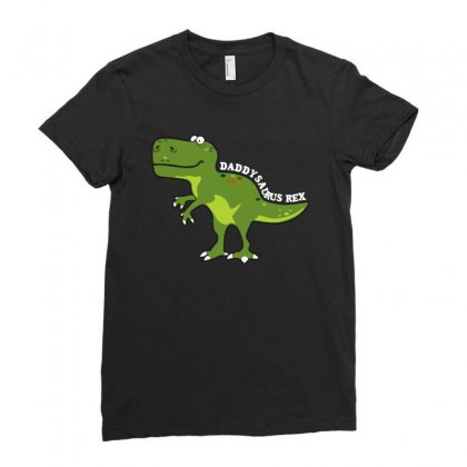 Daddysaurus Rex T Shirt Ladies Fitted T-shirt Designed By Hung
