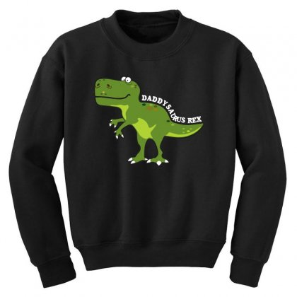 Daddysaurus Rex T Shirt Youth Sweatshirt Designed By Hung